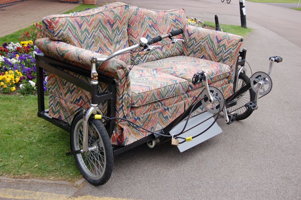 Couch bike for two