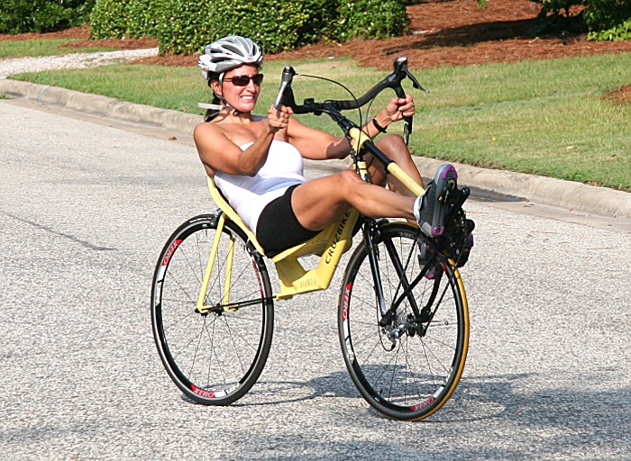 Woman Attempts 12-hour World Record on New Front-Wheel-Drive Recumbent Bicycle