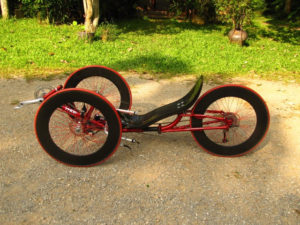 ICE trike with 3x700c three big large wheels
