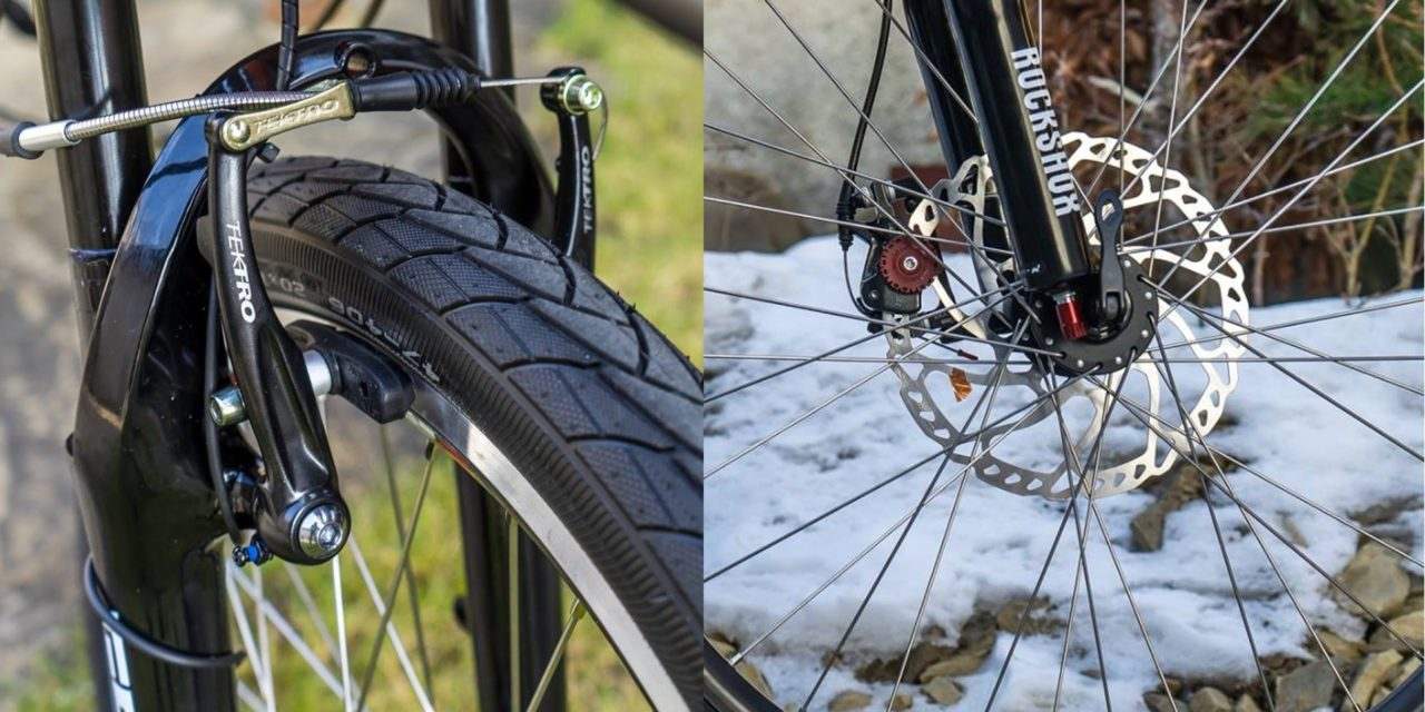 V-brakes vs. disc brakes. What's better?