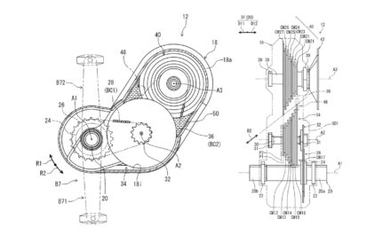 Shimano patented a gearbox in the bike frame