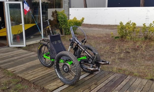 Converted AZUB FAT trike with three motors!