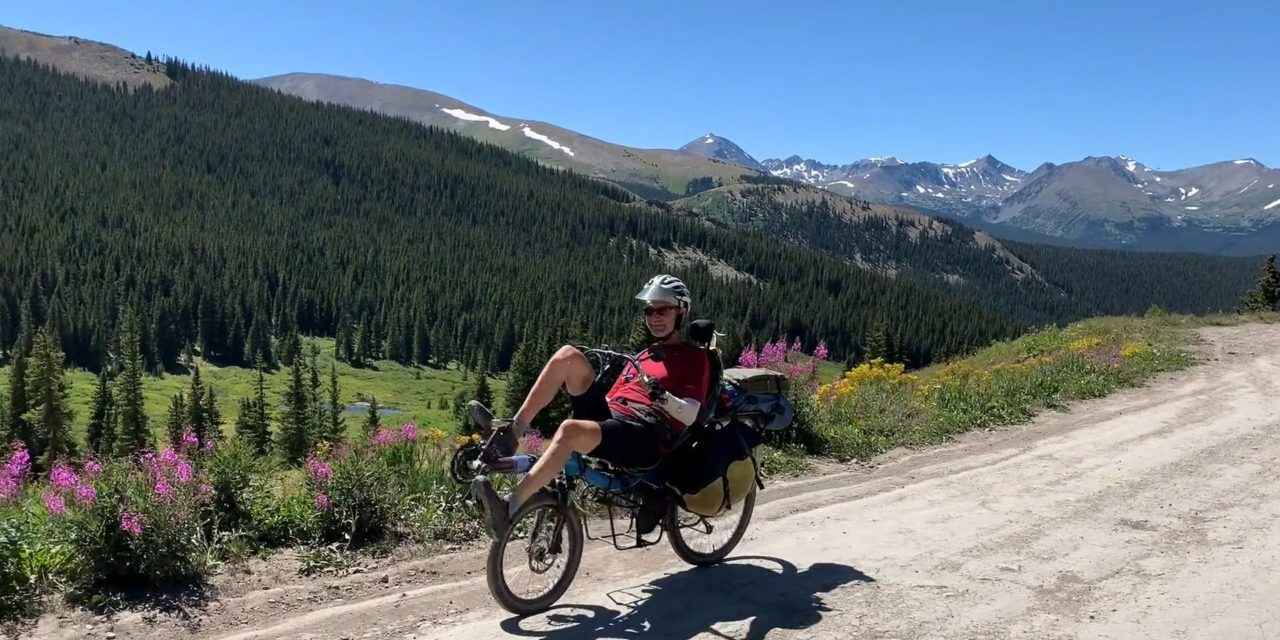 The Great Divide MTB route on a recumbent