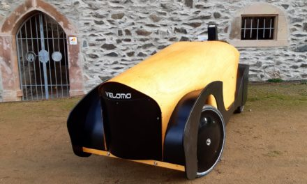 Another plywood velomobile. This time from Germany.
