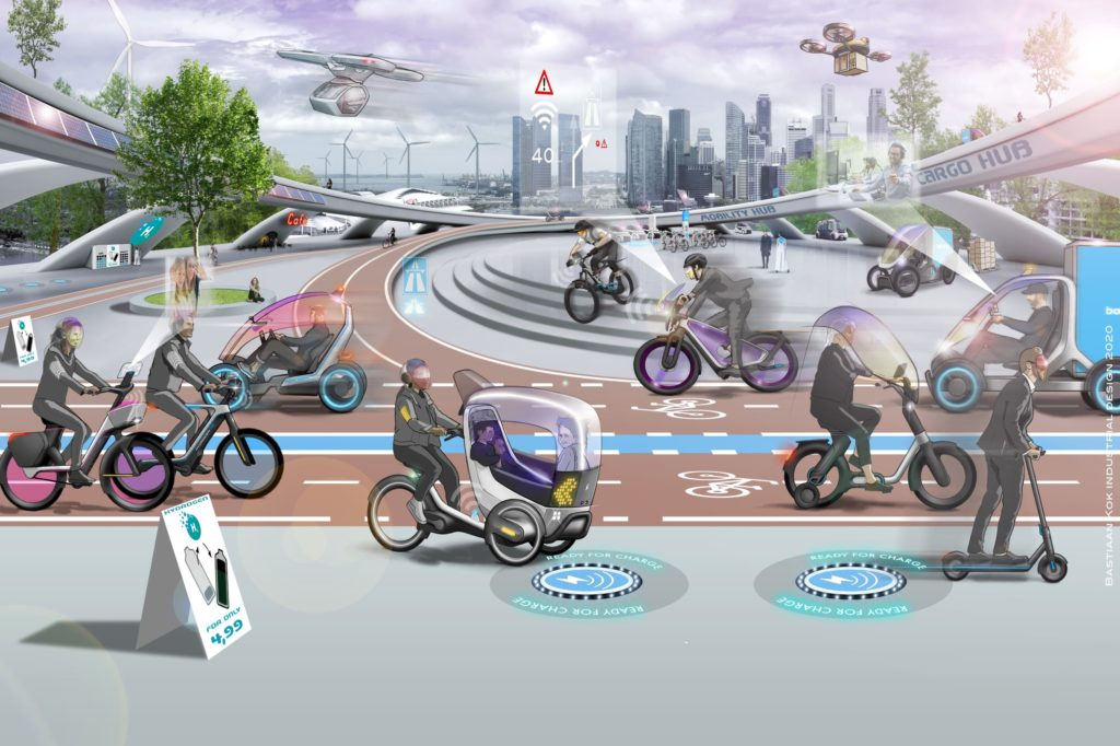 How the city of the future will look like with lanes for ebikes, cargo bikes and other micromobility