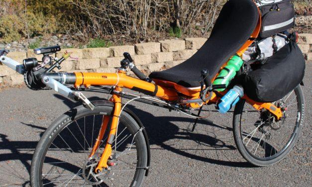 Chris Malloy's setup for the 3.500 miles long race