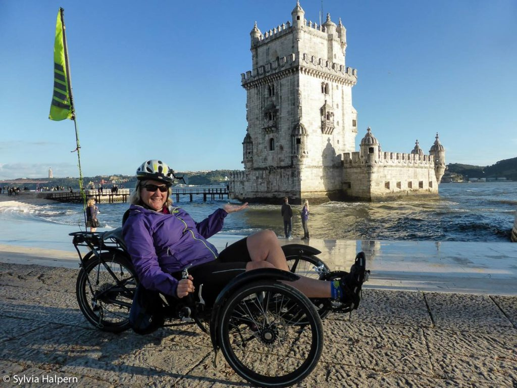 Sylvia touring Portugal by bike