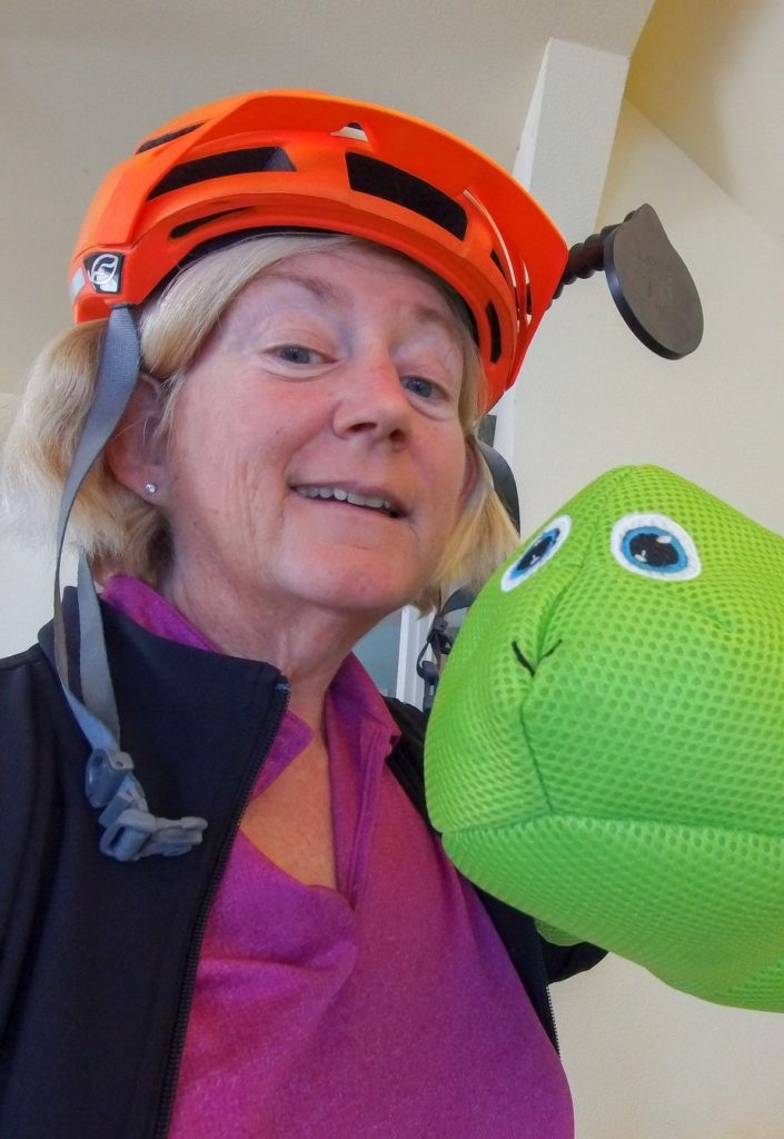 Sylvia Halpern - recumbent cyclist touring the world