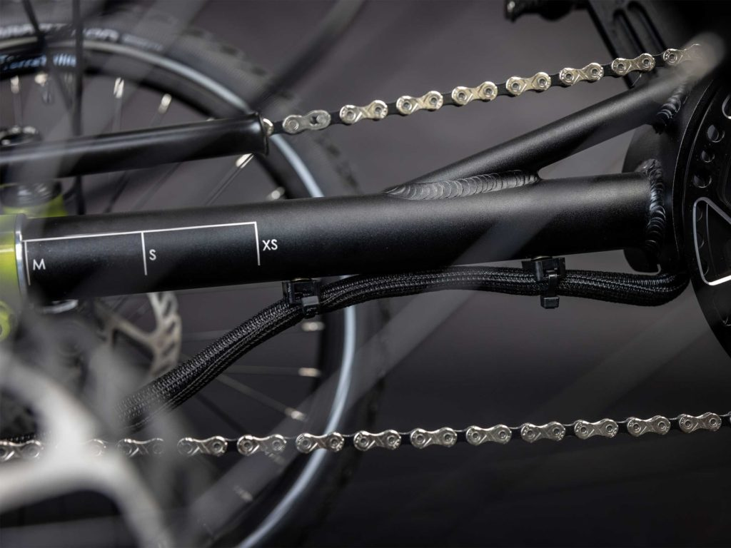 Front boom of the Terra Trike E.V.O. with nice laser engraving