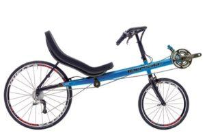 Carbon fibre recumbent road bike