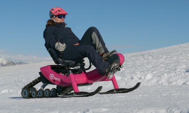 Recumbent snowmobile