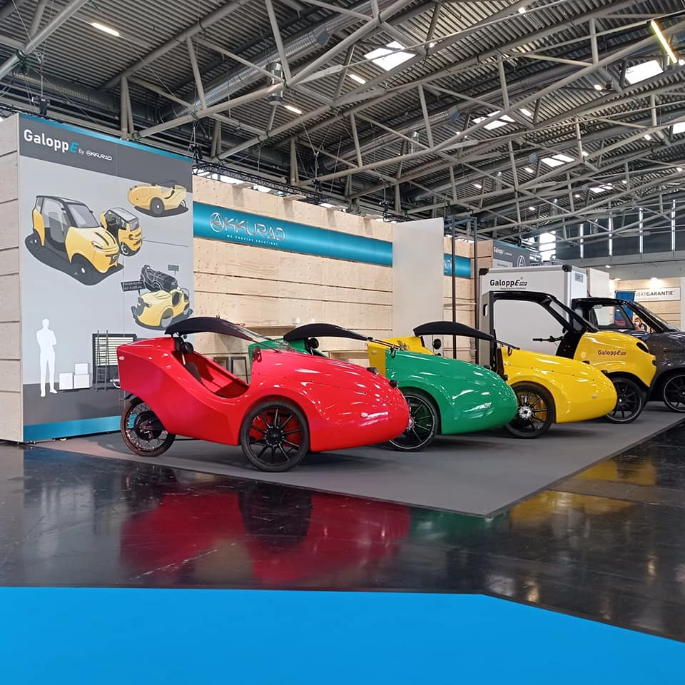 The range of electric vehicles shown by Akkurad at the IAA show in Münich, Germany