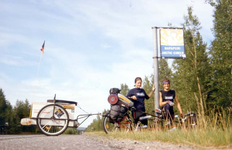North Arctic Circle  - A goal of our first cycling expedition on a tandem bike
