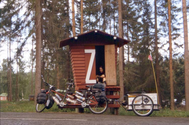 Hiding in the little hut somewhere in Scandinavia