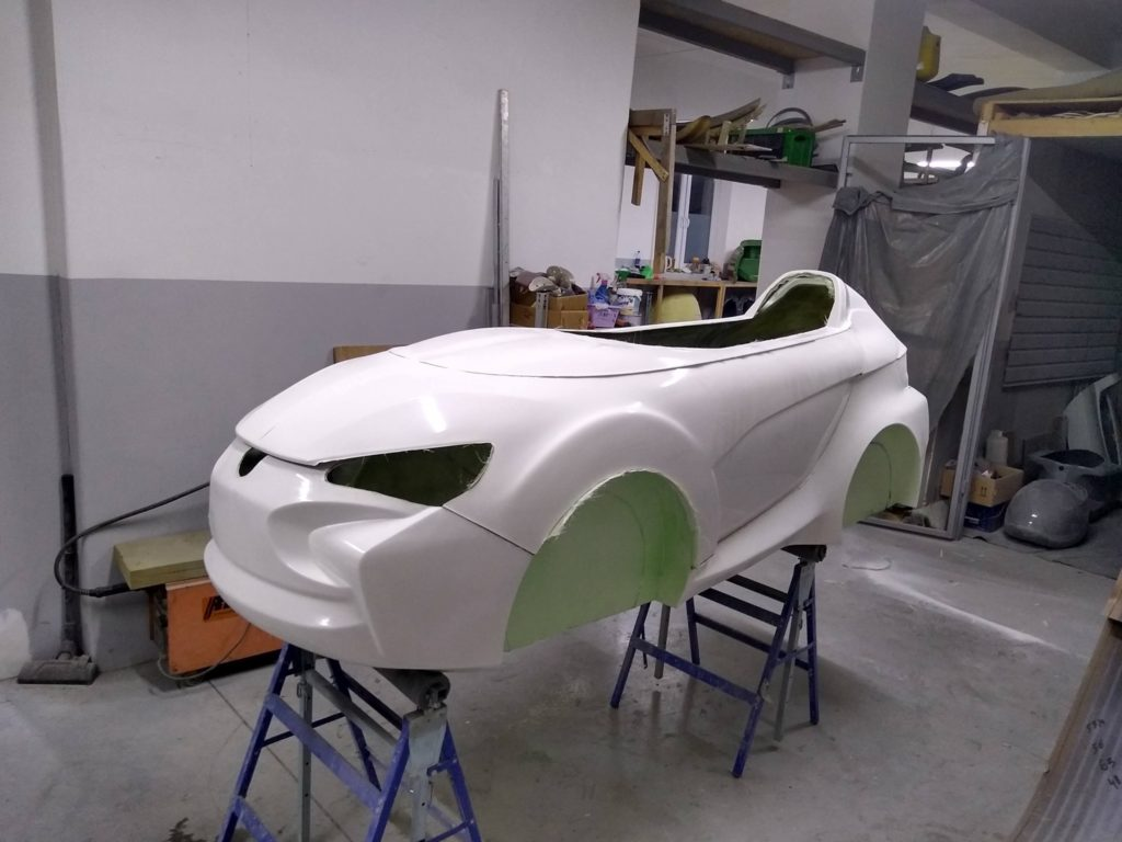fron-side-view of the velomobile from Poland